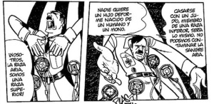 Adolf Hitler es uno de los protagonistas de esta obra.