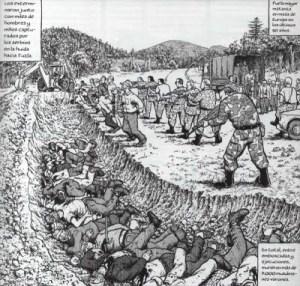 La matanza de Srebrenica también tiene un aparece en la obra de J. Sacco.