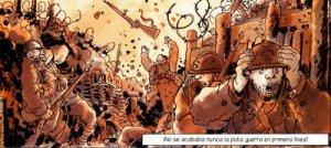 Tardi reconstruye la barbarie del conflicto.